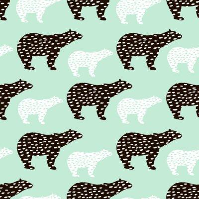 Tapeta Bez szwu deseń z silhouette niedłożenia polarnego. Doskonały do tkanin, textile.Vector tle