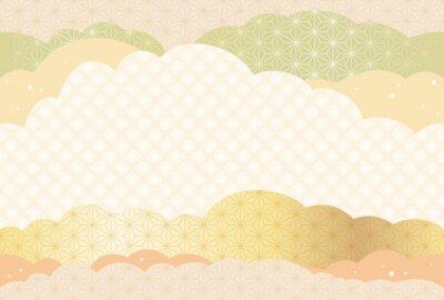 Tapeta シームレスな和柄背景の年賀状テンプレート