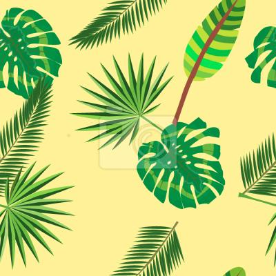 Tapeta Tropikalna Liść džungļi