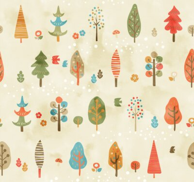 Tapeta 木のパターン秋色