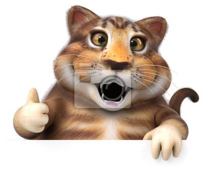 Zabawy Kot 3d Ilustracja Brązowy Kot ładny Myloviewpl