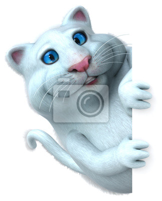 Zabawy Kot 3d Ilustracja Kot ładny Zabawny Myloviewpl