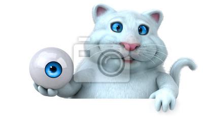 Zabawy Kot 3d Ilustracja Optyczny Big Brother Wizja Myloviewpl