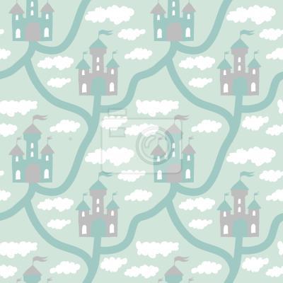 Tapeta Zamek w Chmurze