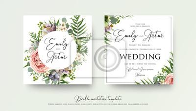Zaproszenia ślubne Kwiatowy Zaproszenie Zaprojektuj Z Lawendy