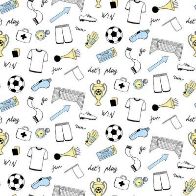 Tapeta Zestaw Doodle piłki nożnej