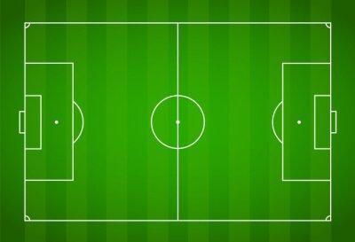 Tapeta Zielona trawa tle pola. Wektor Piłka Nożna - Pole Piłki Nożnej