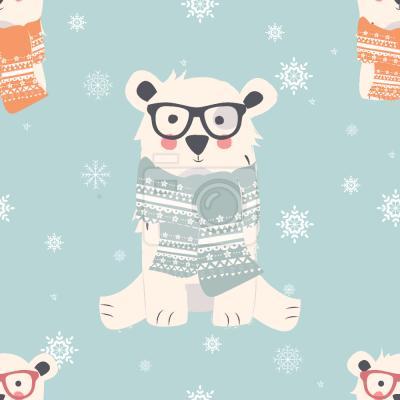 Tapeta Zimowe Niedźwiedzie