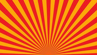 Tapeta Żółte pomarańczowe promienie plakatu. Popularne gwiazda ray wybuchnął rocznika telewizji tła. Dark-light bright abstrakcyjne tekstury z Sunburst, wyrównania, belki. Retro Art Design Glow jasny wzór il