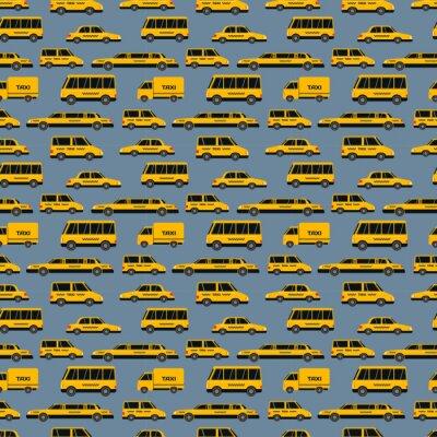 Tapeta Żółte taksówki ilustracji wektorowych.
