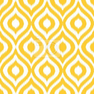 Tapeta Żółty Ogee Damask