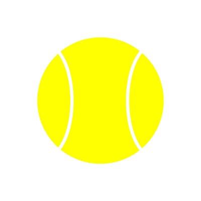 Tapeta Żółty Piłek Tenisowy Ikonę Samodzielnie Na Białym Tle